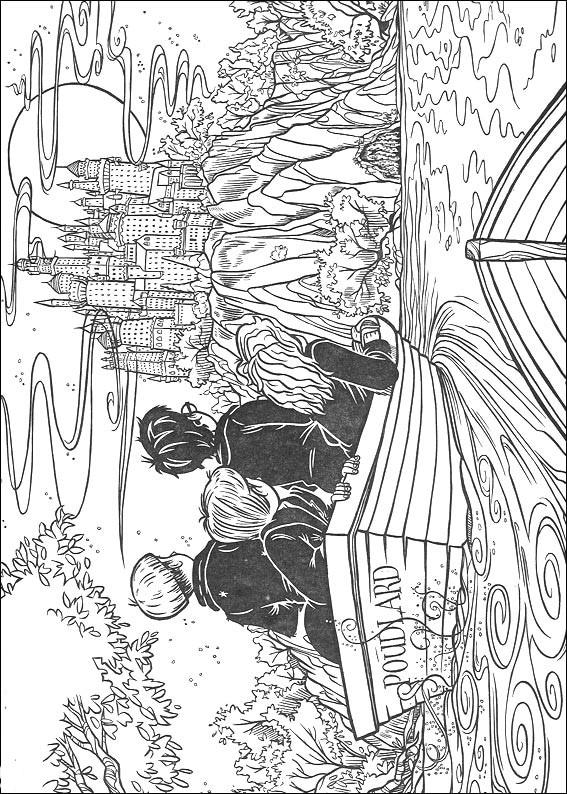 Гарри Поттер 07 распечатать картинку раскраску или скачать ...