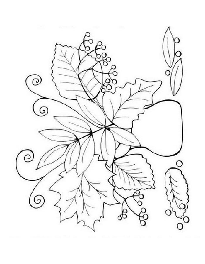 Осень (8) распечатать картинку раскраску или скачать бесплатно