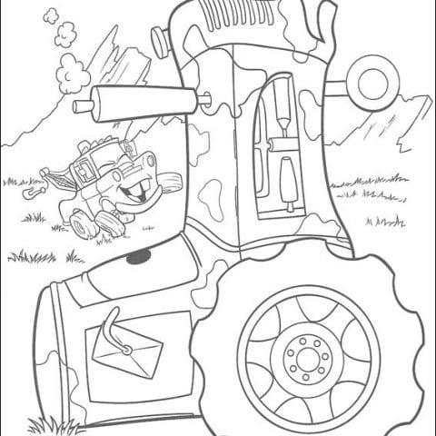 Тачки — Трактор распечатать картинки раскраски или скачать ...