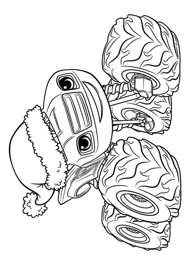 Вспыш в рождественской шапке распечатать картинку ...